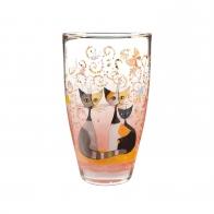 Wazon 25 cm Koty i tańczące motyle - Rosina Wachtmeister Goebel 66851651