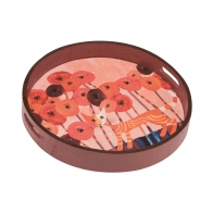 Taca 36 cm Koty Czerwone kwiaty - Rosina Wachtmeister Goebel 66851941