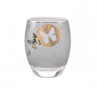 Świecznik - tealight 10 cm - Szare Motyle - Joanna Charlotte Goebel 26150421
