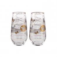 Szklanki 2 szt 15 cm - Szare Motyle - Joanna Charlotte Goebel 26150571