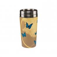 Kubek na wynos 17,5 cm - Niebieskie Motyle - Joanna Charlotte Goebel 26150541