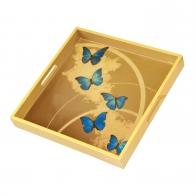 Taca 37 cm - Niebieskie Motyle - Joanna Charlotte Goebel 26150551