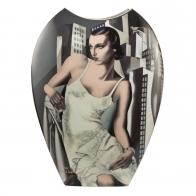 Wazon Portret A. Bott i Ira P. 45 cm Tamara De Lempicka Goebel 67070281