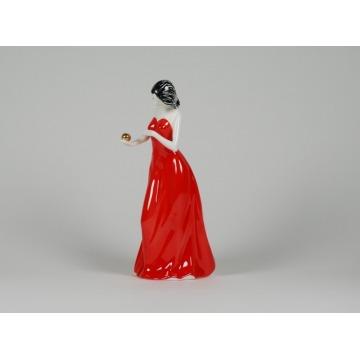Dziewczyna z jabłkiem - piękność as cmielów porcelana