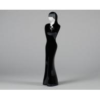 Sayako - czarna as cmielów figurka z porcelany