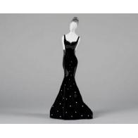 Zakochana Asia - czarna as cmielów figurka z porcelany