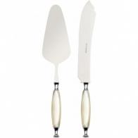 Nóż i łopatka do ciasta kość słoniowa - Country Bugatti COCAM-N4220/21