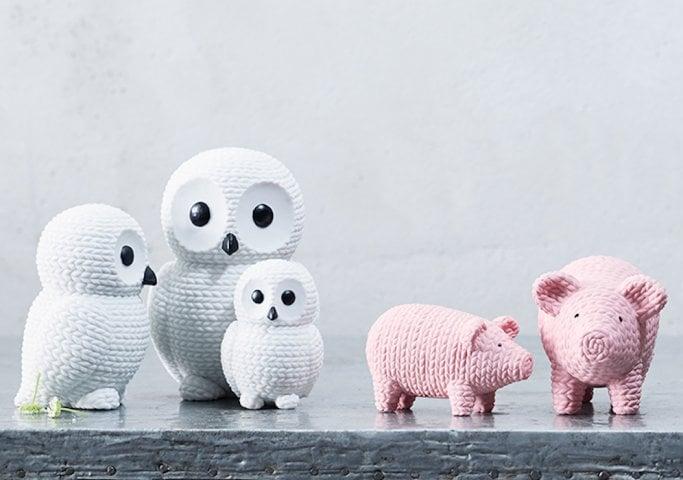 rosenthal figurki rabits pets sweterek